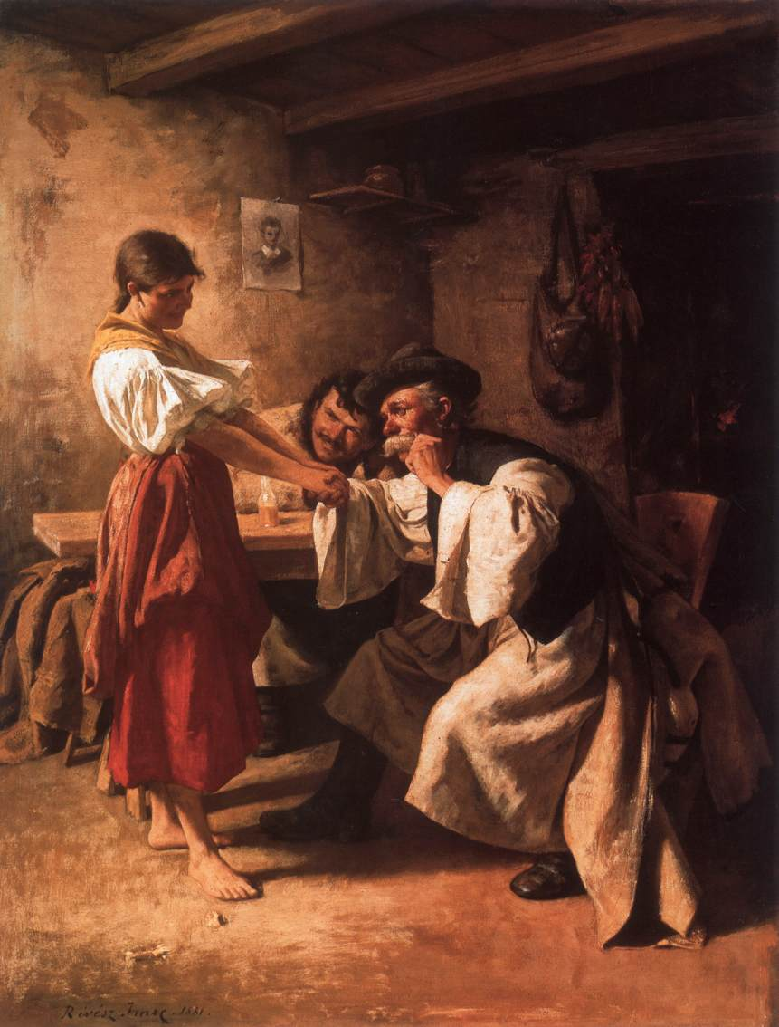 Wooers 1881 | Imre Revesz | Oil Painting