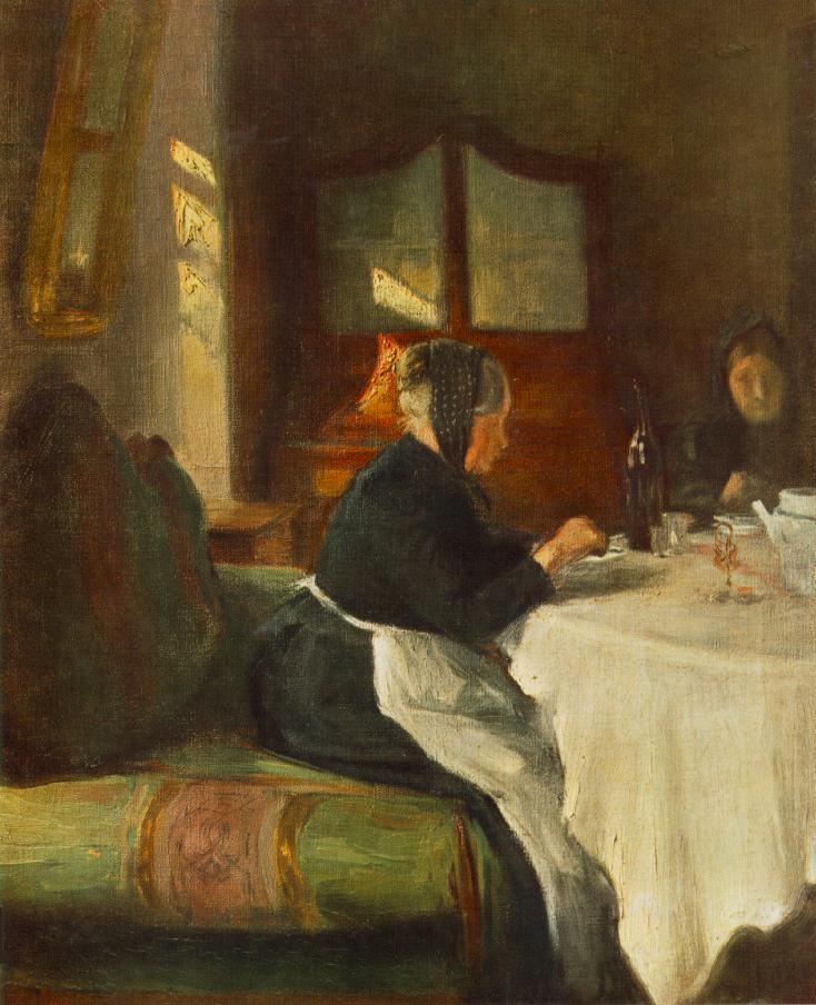Old Woman 1900   Istvan Reti   Oil Painting