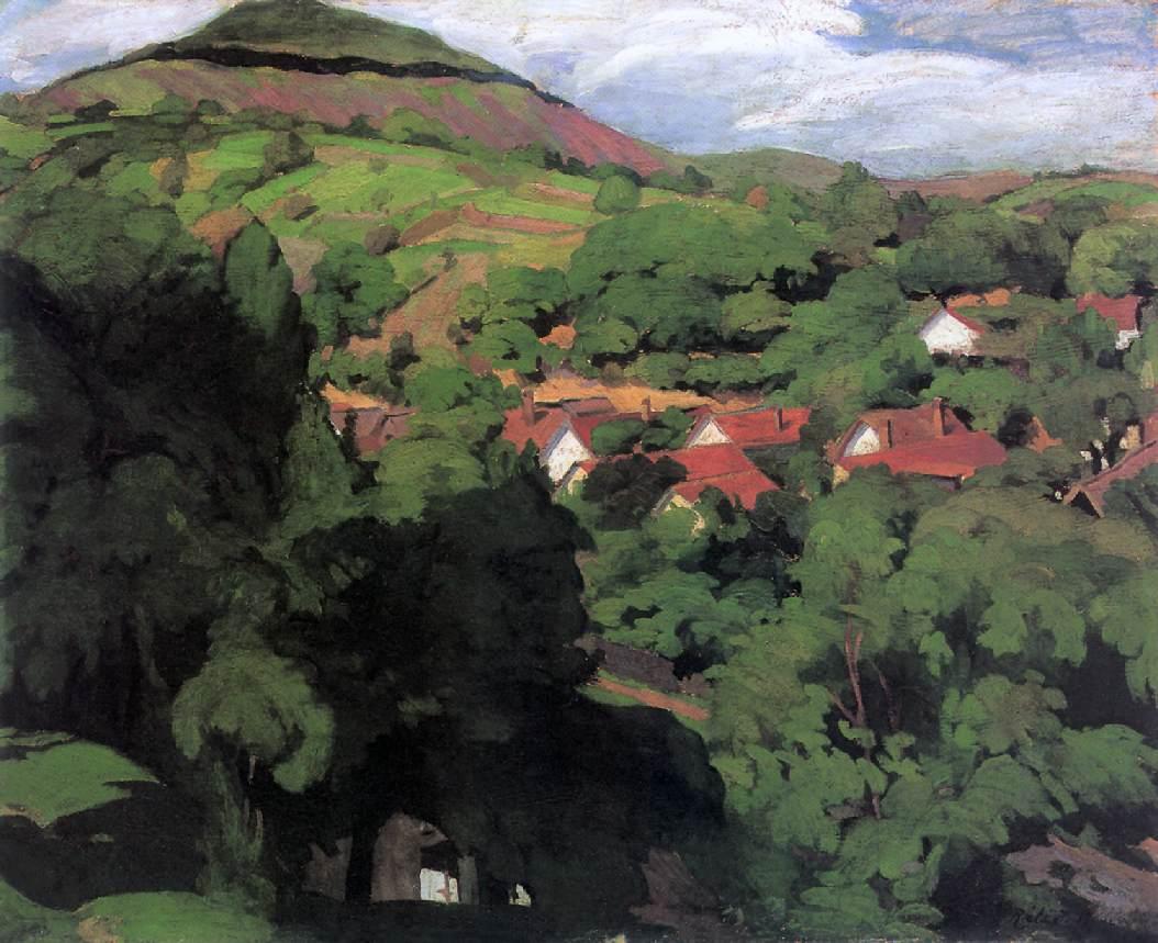 Landscape at Nagybanya 1900   Istvan Reti   Oil Painting
