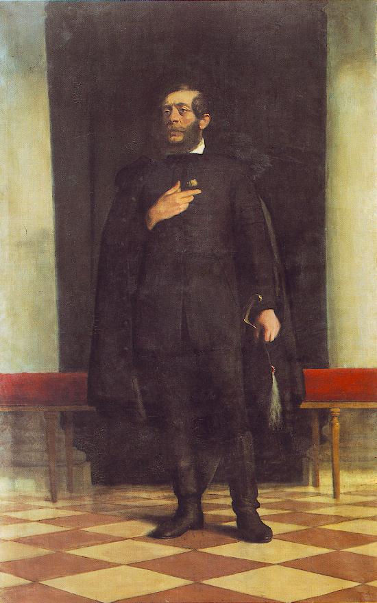 Lajos Kossuth 1931   Istvan Reti   Oil Painting