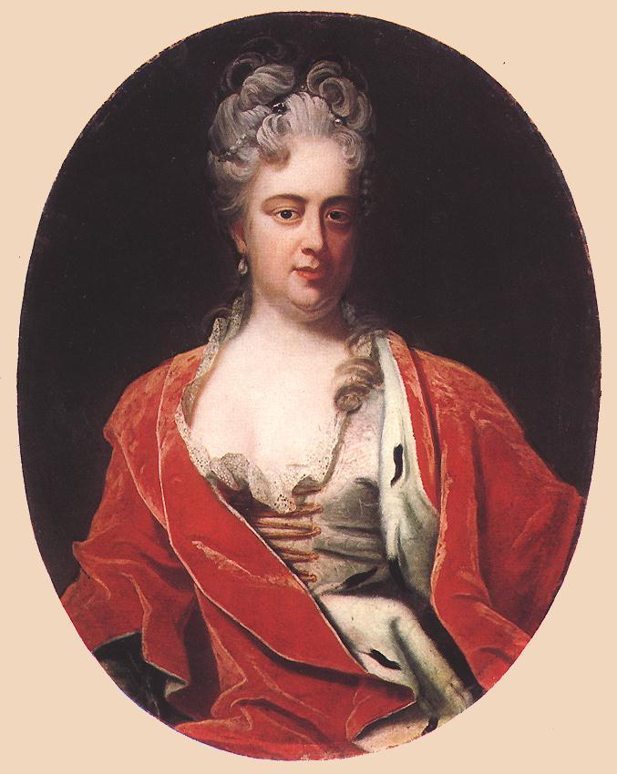 Portrait of Princess Sarolta Amalia the Wife of Ferenc Rakoci II 1704