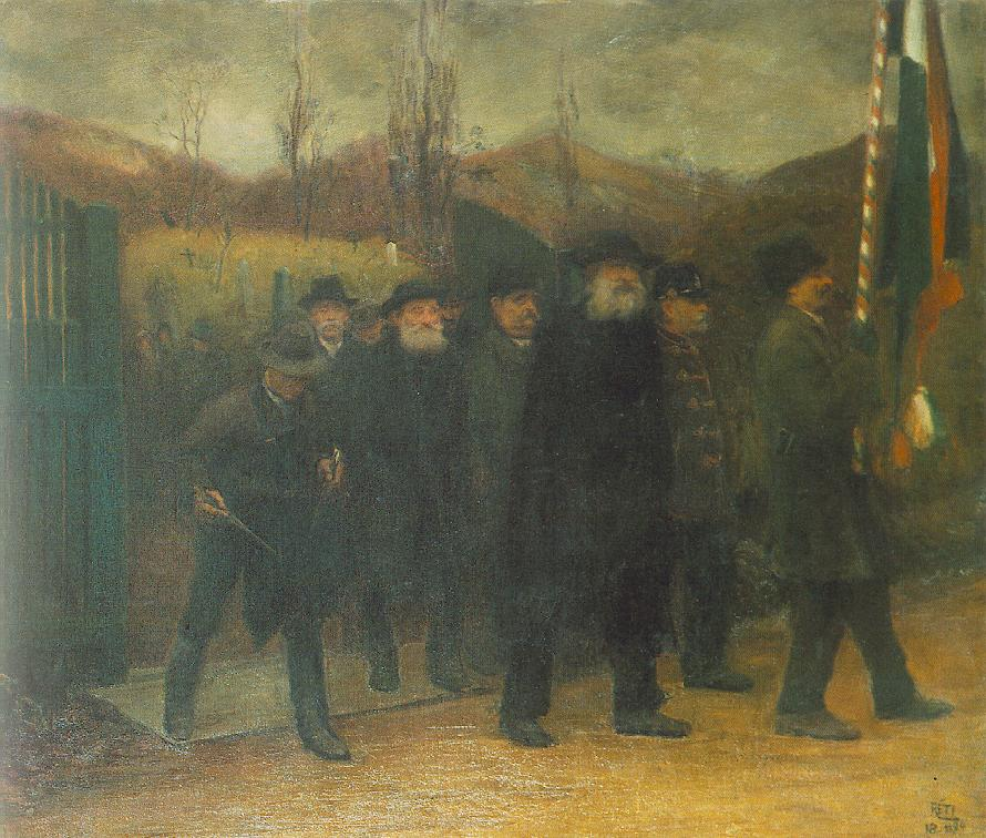 Funeral of a Homeguard 1899 | Istvan Reti | Oil Painting