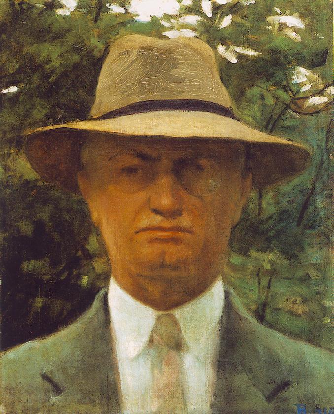 Self portrait 1936   Istvan Reti   Oil Painting