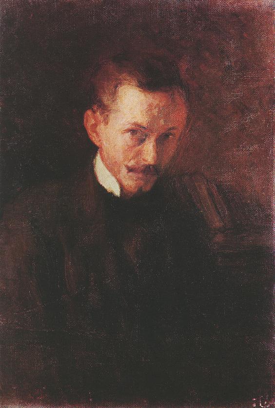 Self portrait 1898   Istvan Reti   Oil Painting