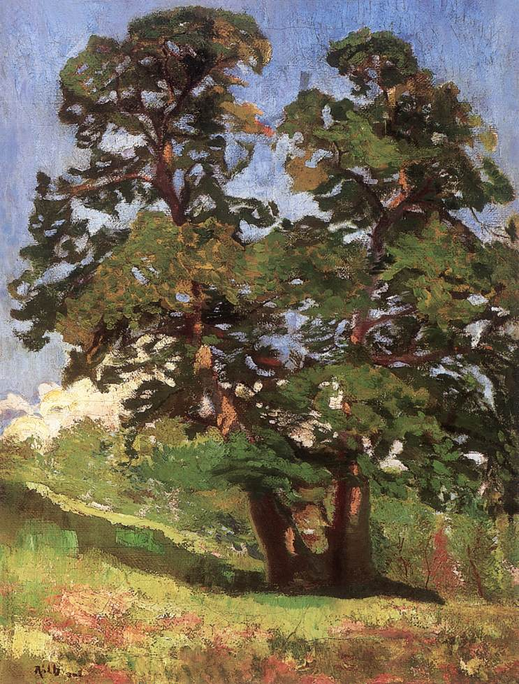 Sunlit Tree at Nagybanya 1903 | Alfred Reth | Oil Painting