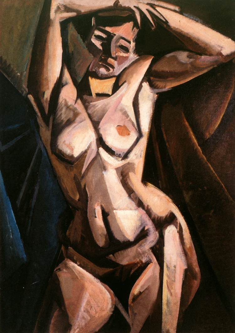 Lounging Nude 1912 | Alfred Reth | Oil Painting