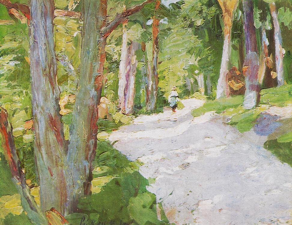 Walking Through the Forest 1905 | Bertalan Por | Oil Painting