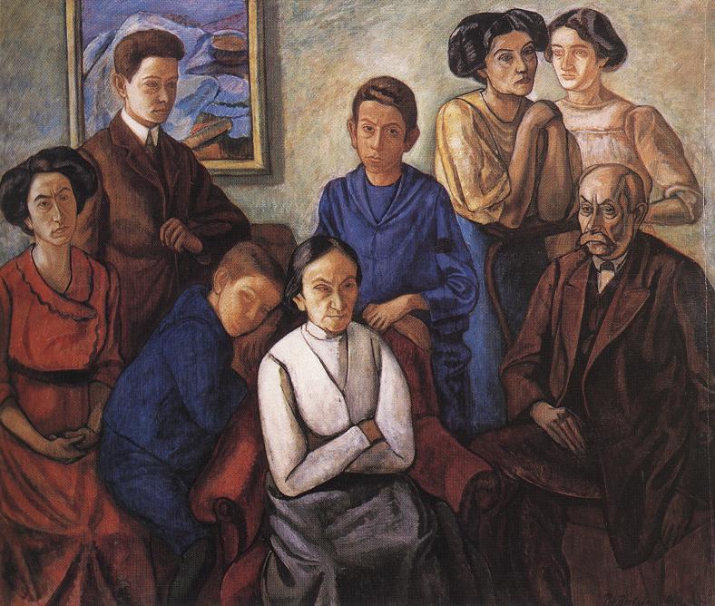 The Family 1909 | Bertalan Por | Oil Painting