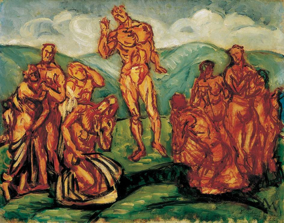 Sermon on the Mountain 1911 2 | Bertalan Por | Oil Painting