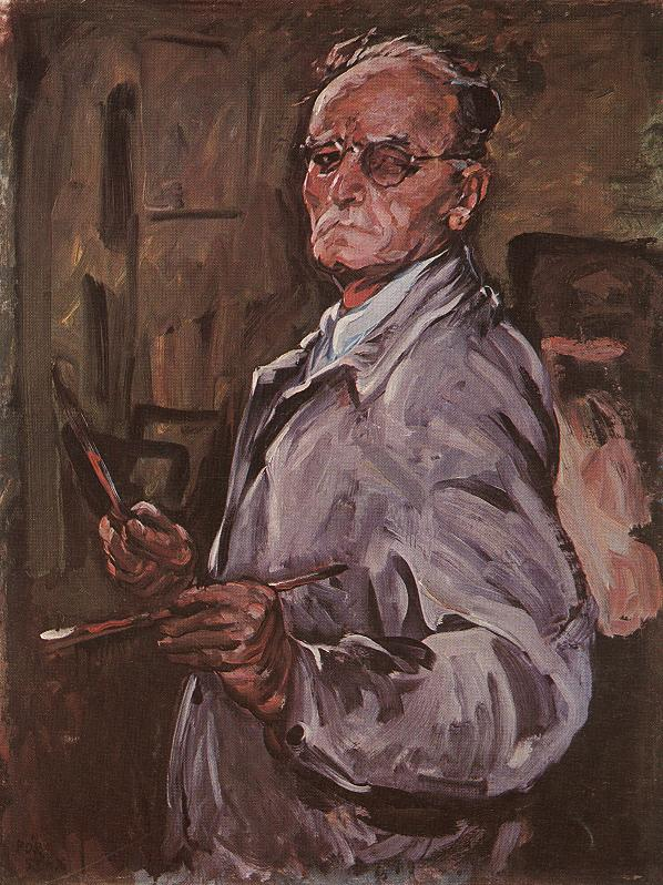 Selt portrait 1953 | Bertalan Por | Oil Painting