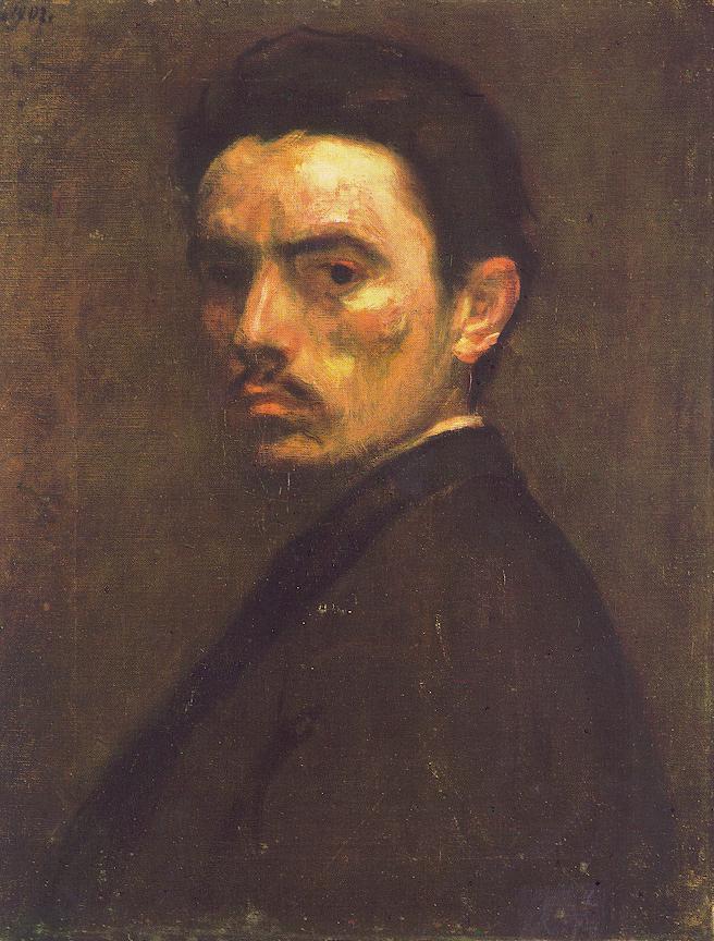 Self portrait 1902 | Bertalan Por | Oil Painting
