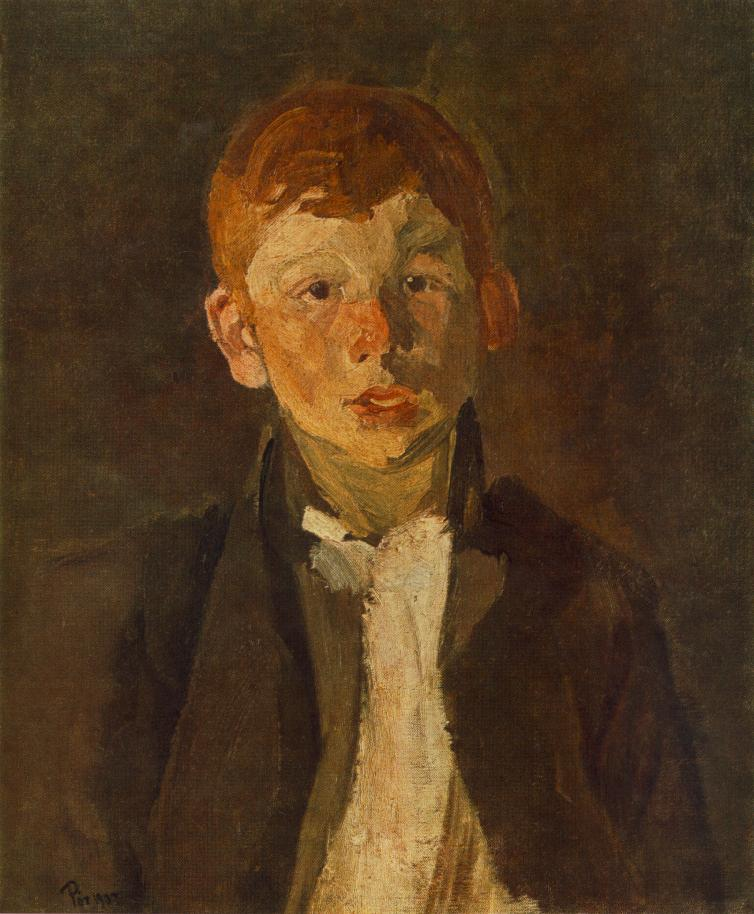 Red haired Gipsy Boy 1903 | Bertalan Por | Oil Painting