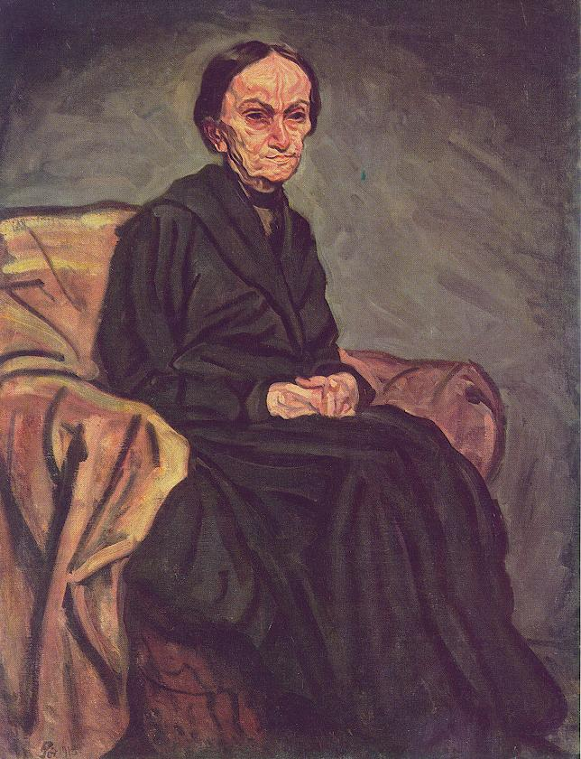 Portrait of my Mother 1918 | Bertalan Por | Oil Painting