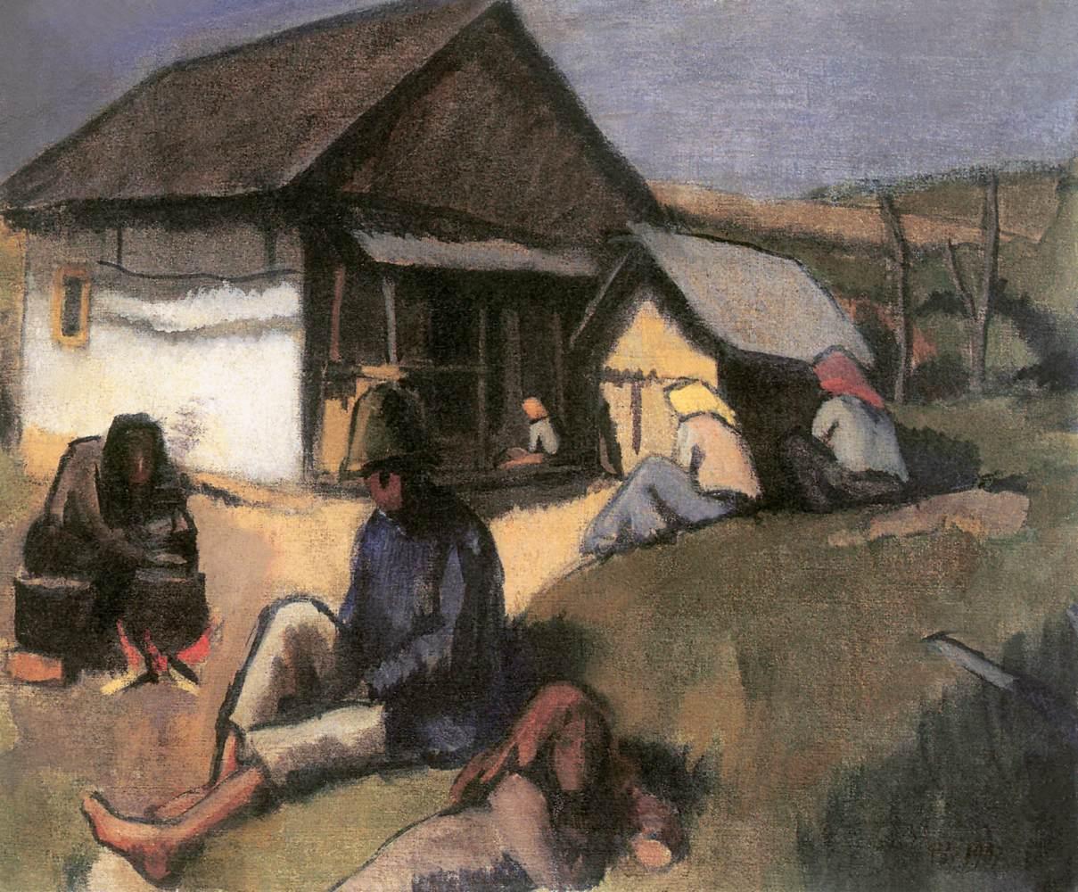 Gypsies 1907 | Bertalan Por | Oil Painting