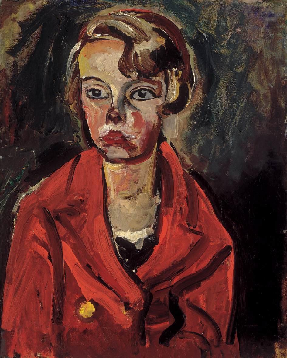 Child in Red Coat 1930 | Bertalan Por | Oil Painting