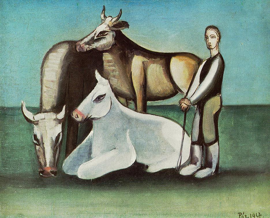 Bulls 1948 | Bertalan Por | Oil Painting