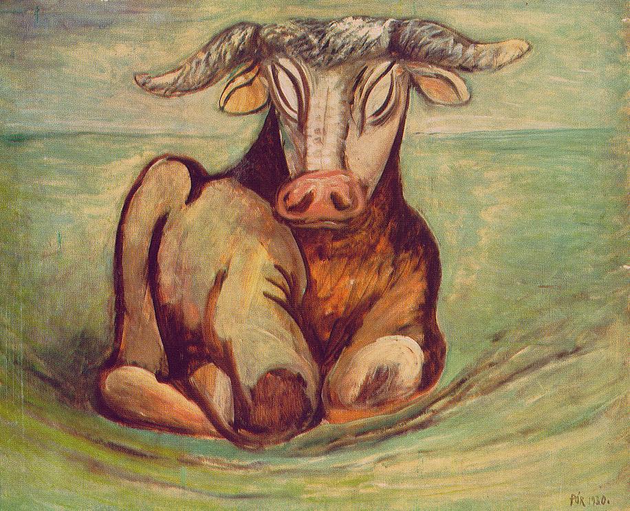 Bull I 1930 | Bertalan Por | Oil Painting