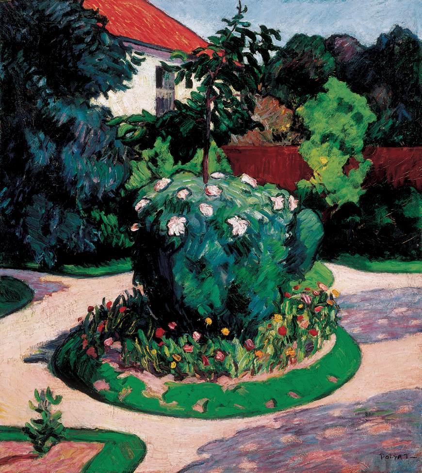 Detail of a Garden   Tibor Polya   Oil Painting