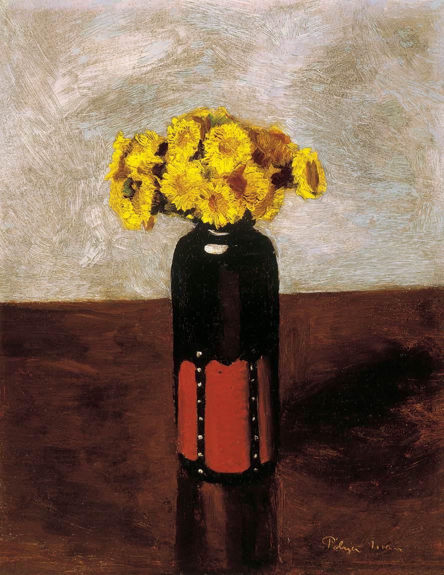 Yellow Flowers   Ivan Polya   Oil Painting