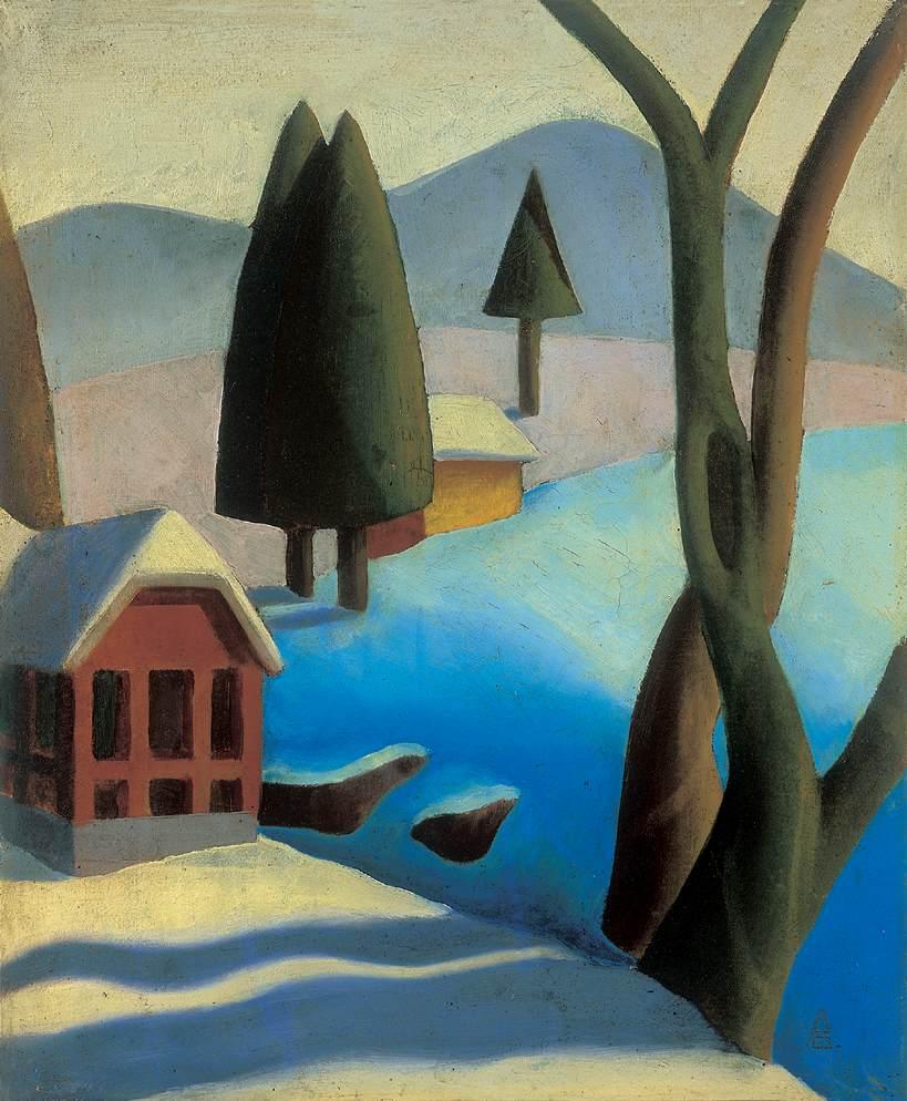 Winter Landscape 1930s | Oliver Pittner | Oil Painting