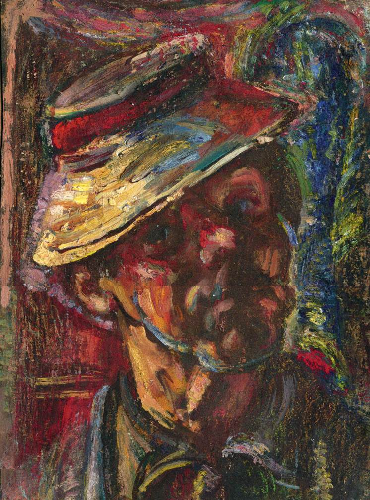 Self portrait in Transylvanian Hat 1960 | Janos Pirk | Oil Painting