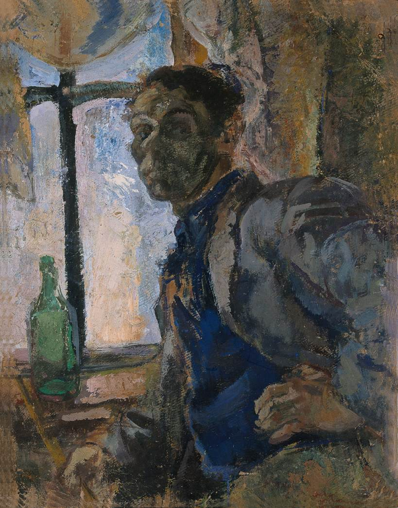Self portrait in Siver 1948 | Janos Pirk | Oil Painting