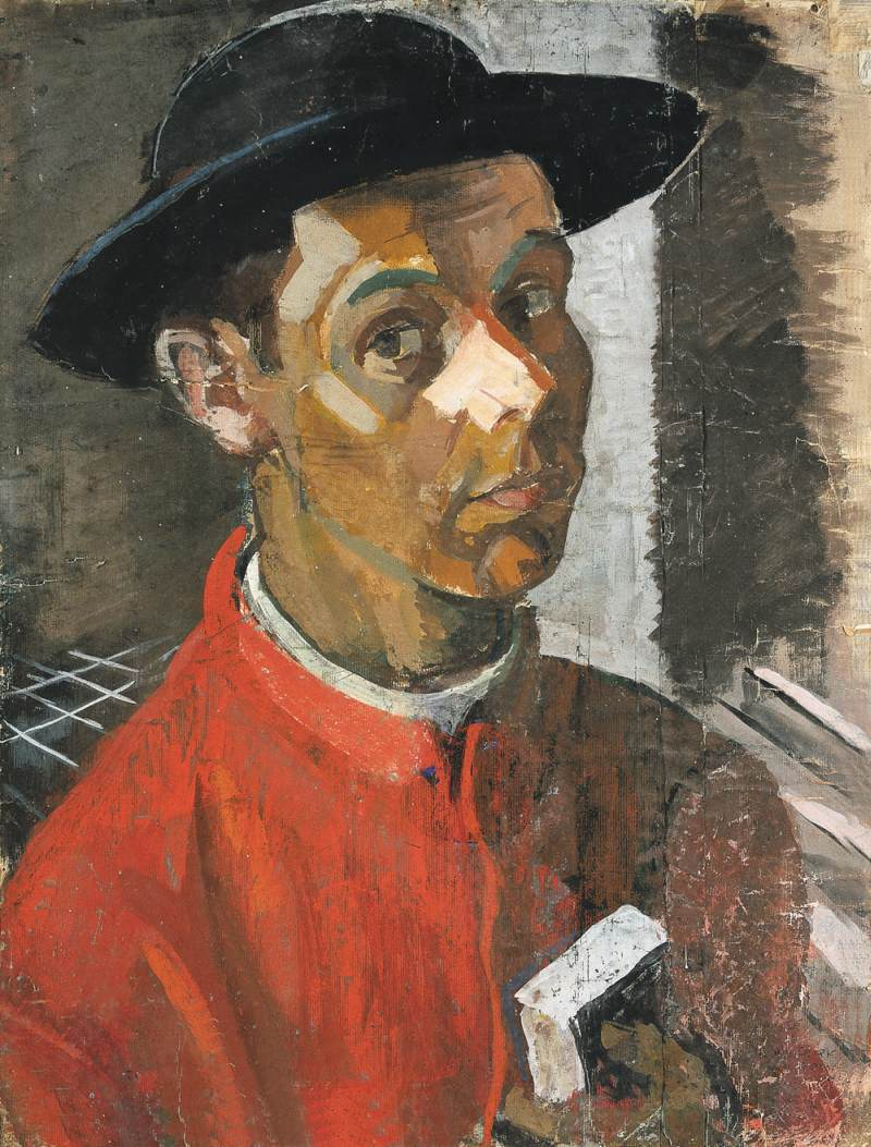 Self portrait in Rome 1936 | Janos Pirk | Oil Painting