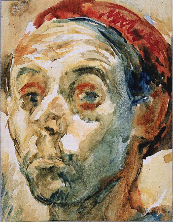 Self portrait in Red Cap 1947 | Janos Pirk | Oil Painting