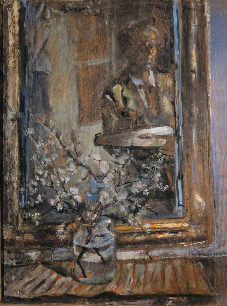 Self portrait in a Mirror 1960 | Janos Pirk | Oil Painting