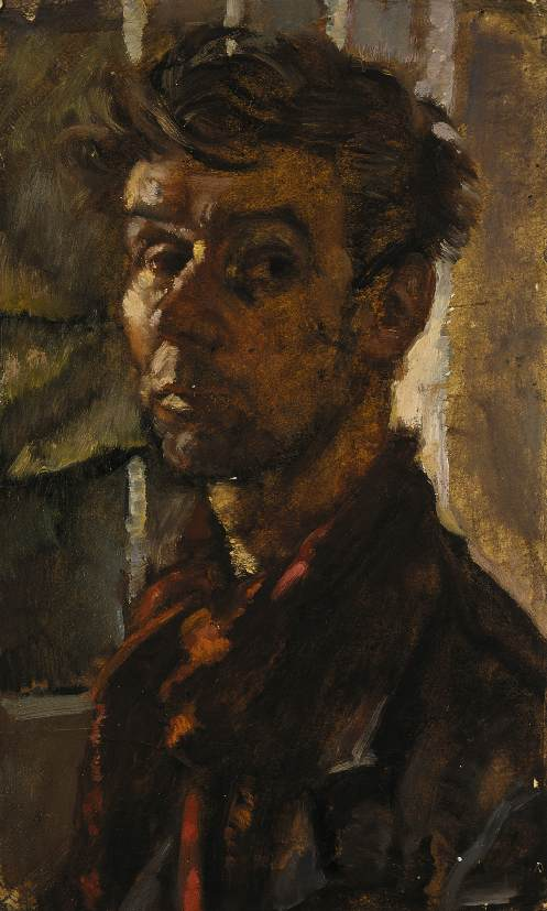 Self portrait beginning of 1950s | Janos Pirk | Oil Painting