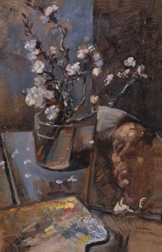 Self portrait 1960 (8) | Janos Pirk | Oil Painting
