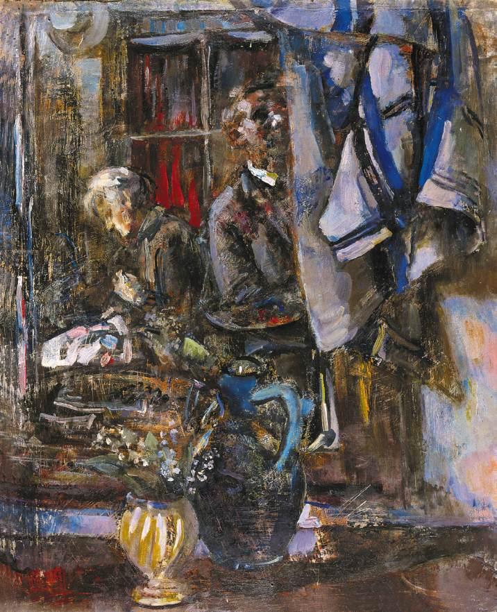Self portrait 1960 (7) | Janos Pirk | Oil Painting