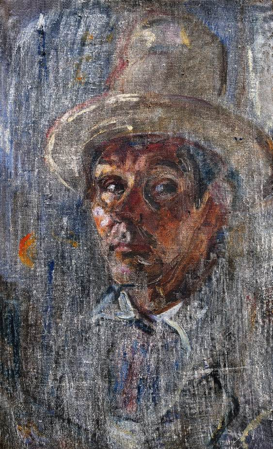 Scratched Self portrait 1960 | Janos Pirk | Oil Painting