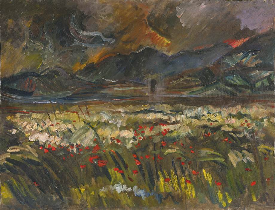 Poppy Field 1980 | Janos Pirk | Oil Painting