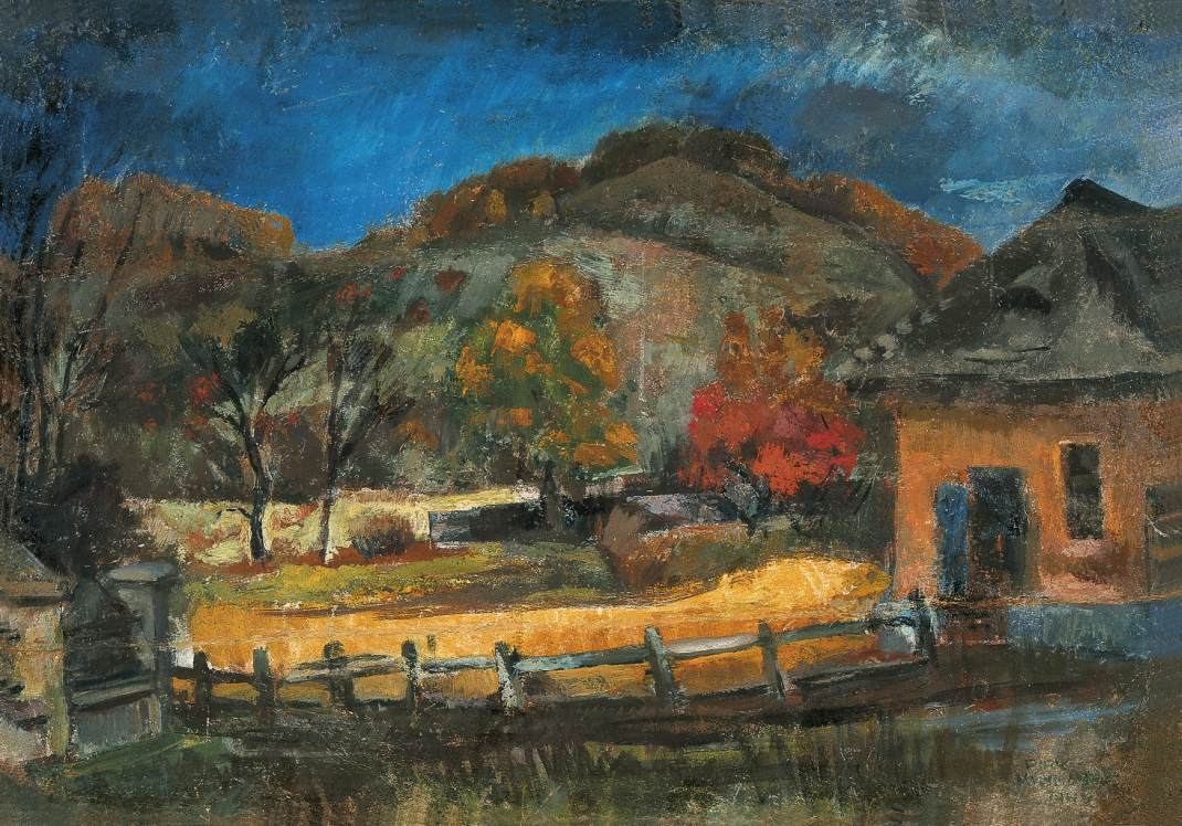 Mount Virag hegy near Nagybanya 1940 | Janos Pirk | Oil Painting