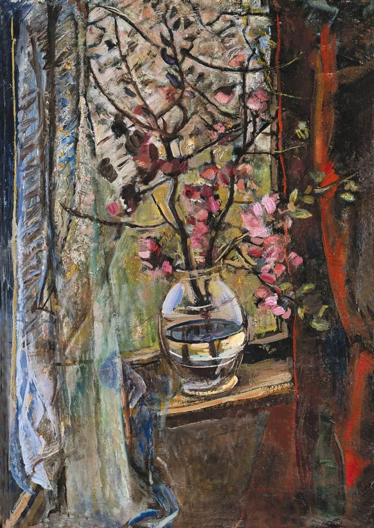 Flowers in Window 1960 | Janos Pirk | Oil Painting
