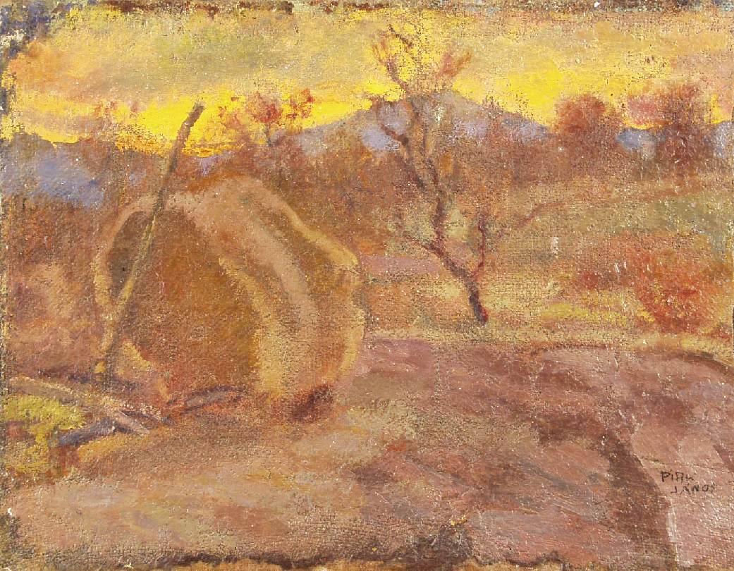 Evening 1961 | Janos Pirk | Oil Painting