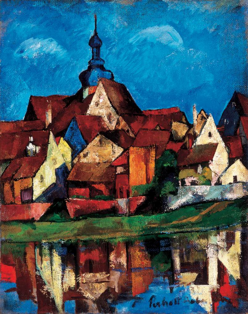 Wertheim am Main 1923 2 | Vilmos Csaba Perlrott | Oil Painting