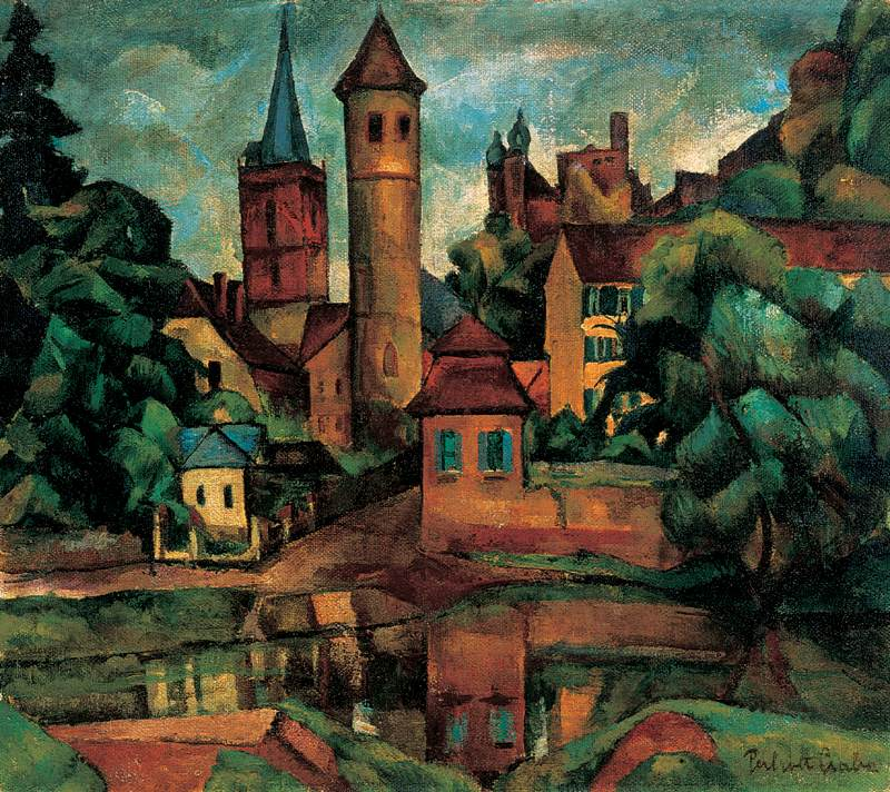 Wertheim am Main 1923 | Vilmos Csaba Perlrott | Oil Painting