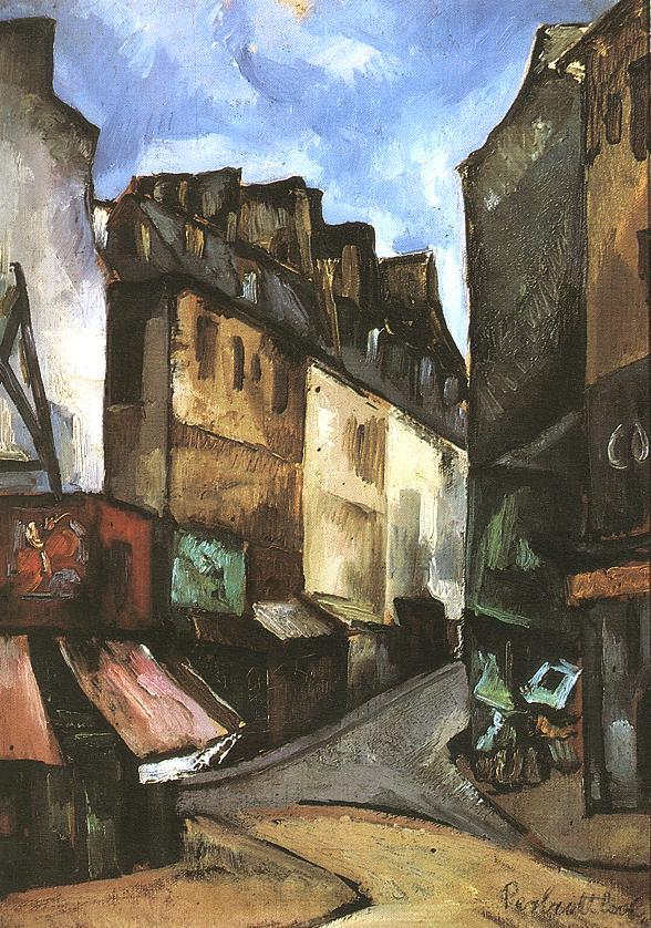 Street in Paris 1930 | Vilmos Csaba Perlrott | Oil Painting