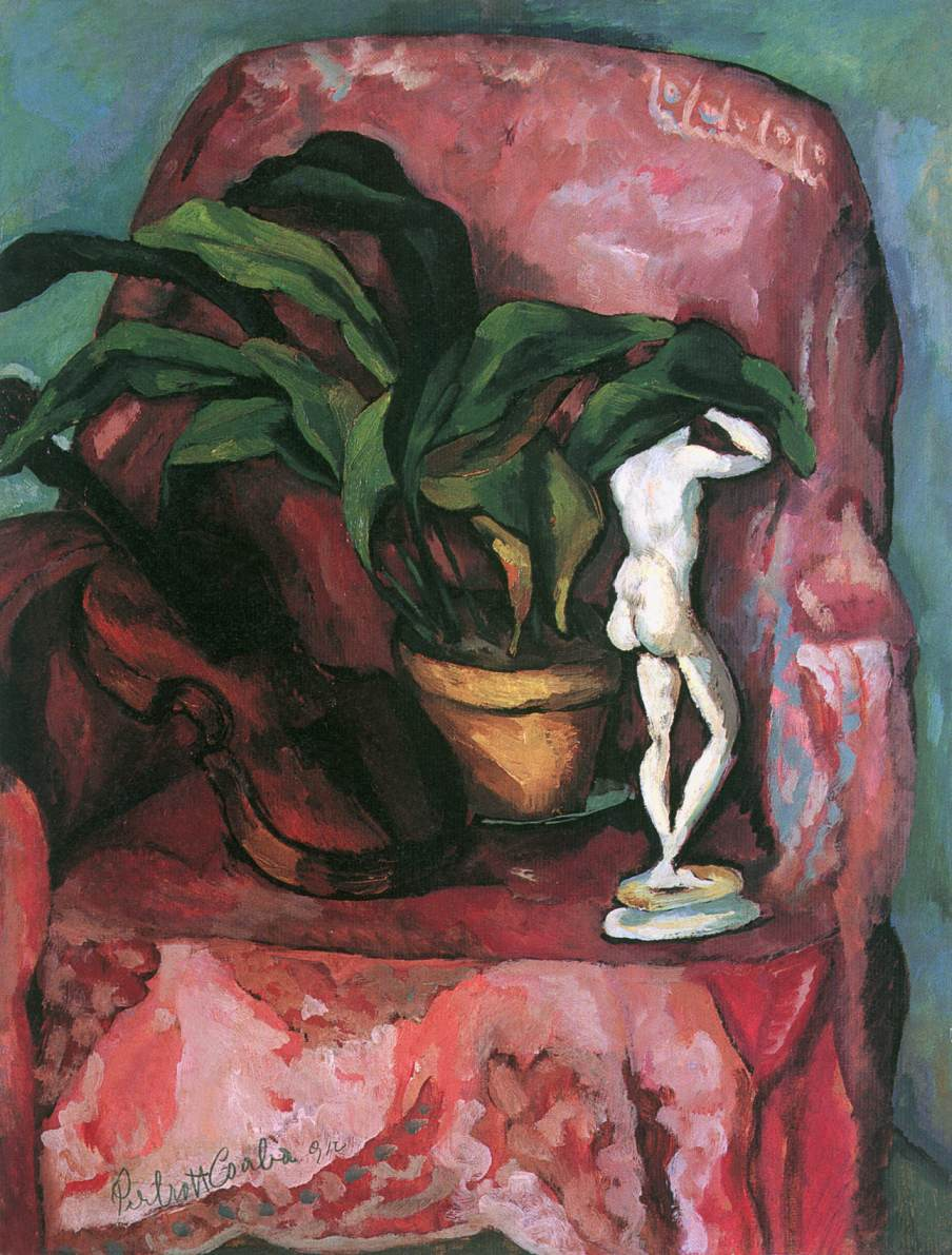 Still life with Armchair 1912 | Vilmos Csaba Perlrott | Oil Painting