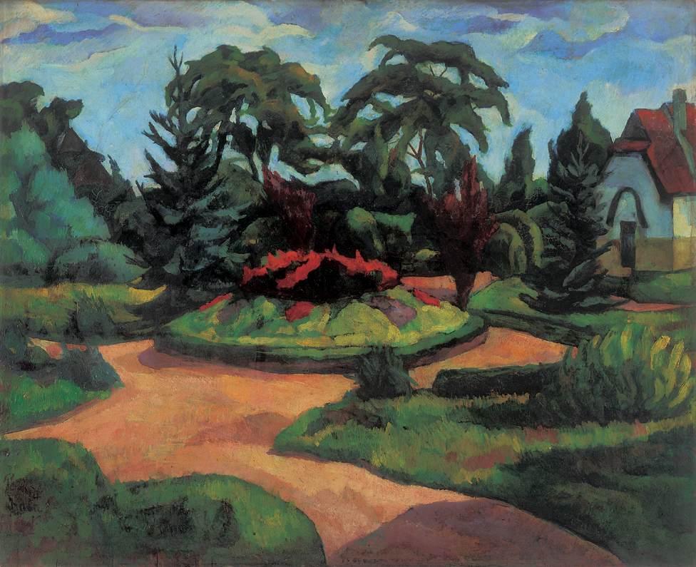 Park 1916 | Vilmos Csaba Perlrott | Oil Painting