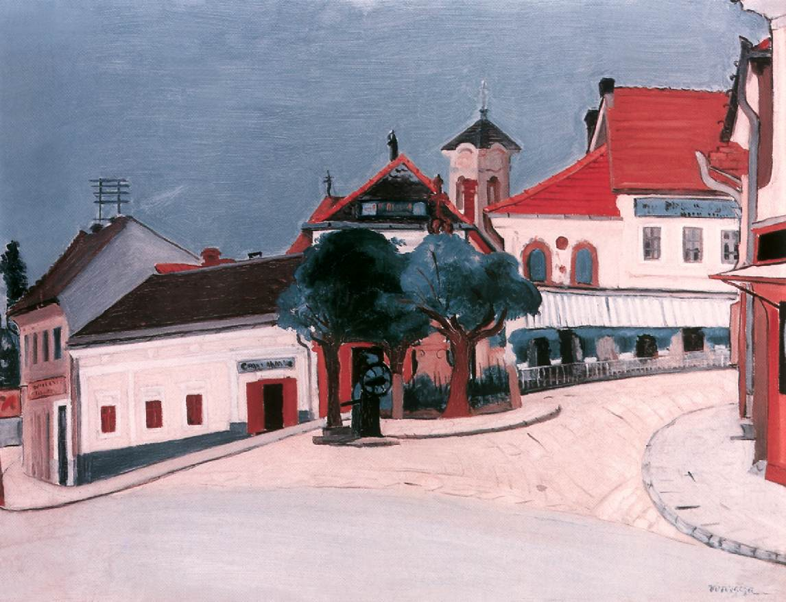 Erzsebet Square at Szentendre 1929 | Geza Voros | Oil Painting