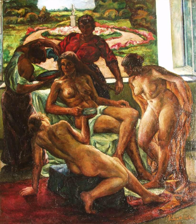 Models 1916 | Vilmos Csaba Perlrott | Oil Painting