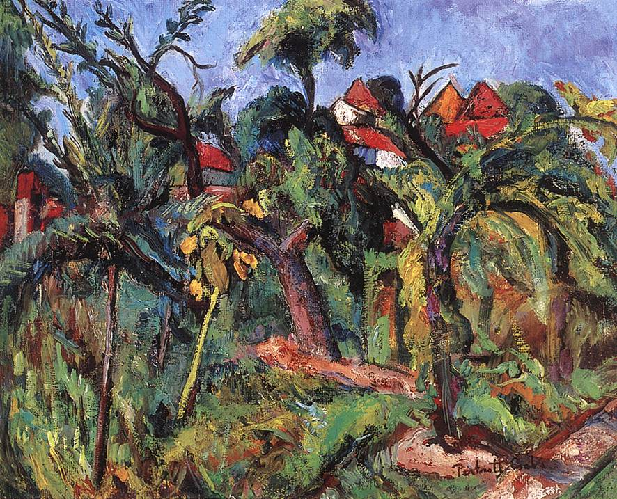 Landscape at Szentendre 1940 | Vilmos Csaba Perlrott | Oil Painting