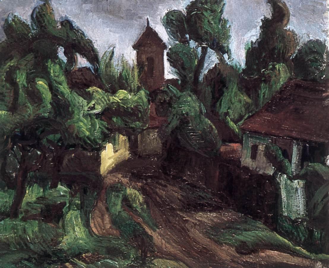 Detail of Szentendre 1935 | Vilmos Csaba Perlrott | Oil Painting