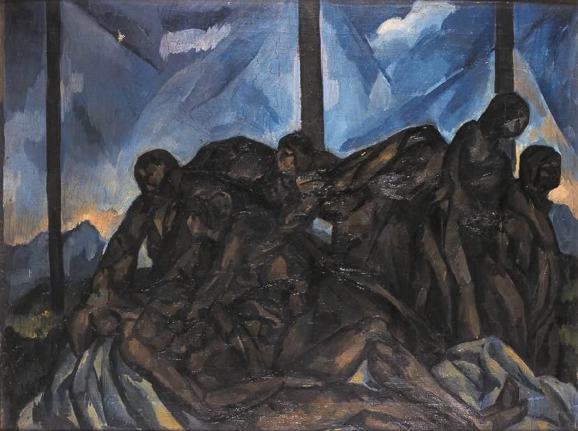 Deposition from the Cross mid 1920s | Vilmos Csaba Perlrott | Oil Painting