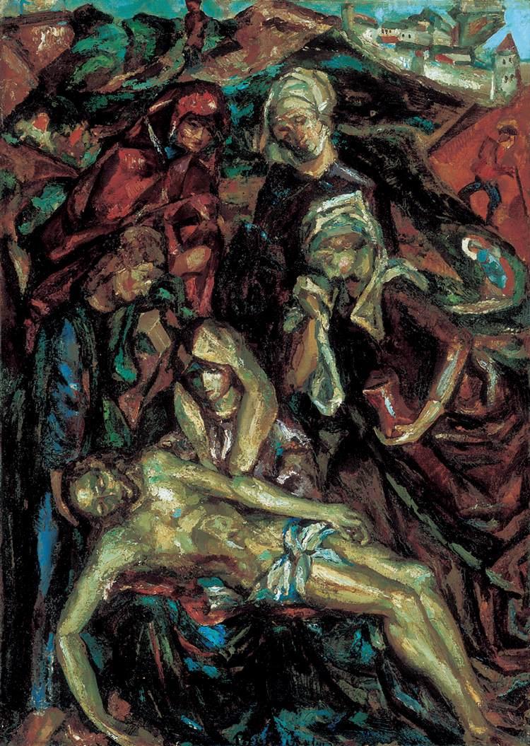 Deposition from the Cross 1912 14 | Vilmos Csaba Perlrott | Oil Painting