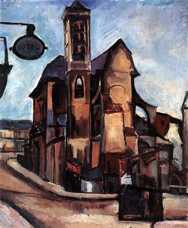 Church in Paris 1926 | Vilmos Csaba Perlrott | Oil Painting