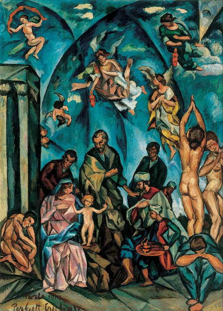Adoration of the Magi 1914 | Vilmos Csaba Perlrott | Oil Painting